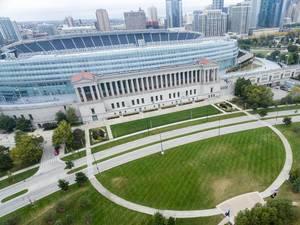 Stadion Soldier Field aus der Vogelperspektive