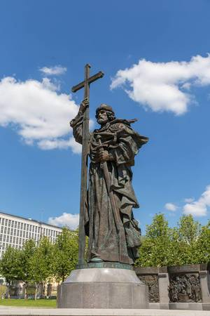 Statue of Vladimir the Great in Kremlin, Moscow