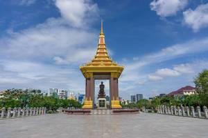Statue von Norodom Sihanouk in Phnom Penh