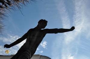 Statue vor dem Mirabellgarten, Salzburg
