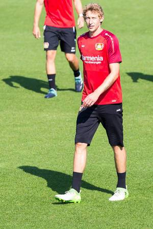Stefan Kießling during training - Bayer 04 Leverkusen