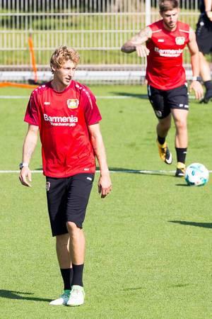 Stefan Kießling und Marlon Frey beim Training - Bayer 04 Leverkusen