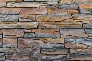 Steinwand Natur, Braun-Graue Farbakzente