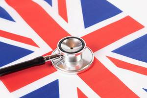 Stethoscope on British flag