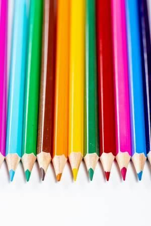 Stifte in verschiedenen bunten Farben