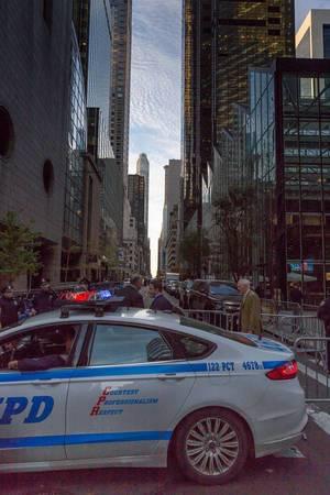 Straßensperre vor Trump Tower