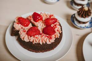 Strawberry Cake Close up