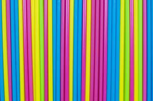 Straws close up