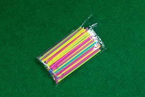 Straws in plastic bag