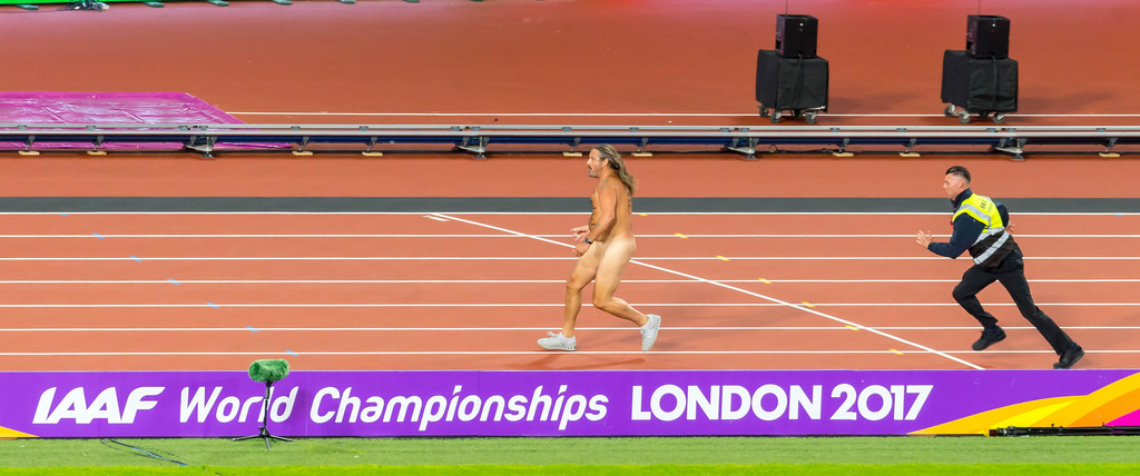 Streaker during London 2017 IAAF World Championschips