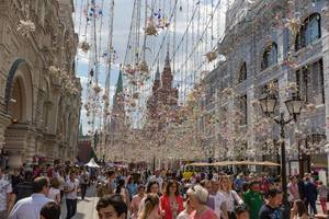 Street decoration in Moscow