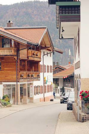 Street in German village Reit Im Winkl