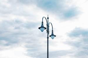 Street light with sky background
