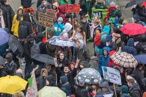 Students and teachers at the Fridays For Future demonstration in Cologne