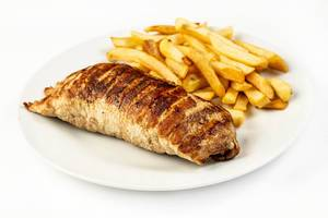Stuffed pork Meat with French Fries (Flip 2019)