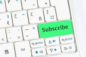 Subscribe green keyboard button