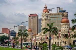 Sultan Abdul Samad Building next to Merdeka Square in Kuala Lumpur