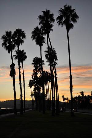Sunset in Santa Barbara / Sonnenuntergang in Santa Barbara