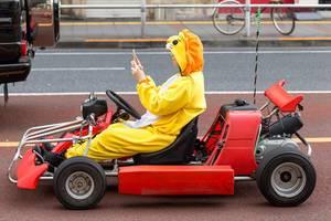 Super Mario Kart in echt in Tokio