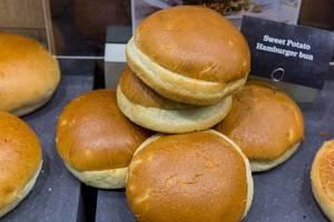 Süßkartoffel Buns (Burgerbrötchen)