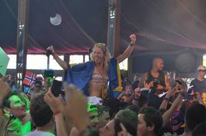 Swedish girl enjoying herself - Tomorrowland music festival 2014
