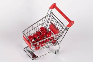 Sweet cherries in shopping cart  Flip 2019