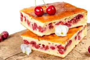 Sweet homemade cherry pie, close up (Flip 2020)