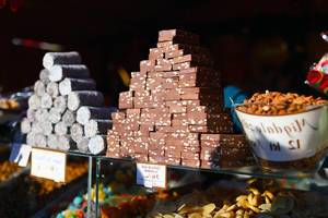 Sweets and chocolate at Christmas market (Flip 2019)