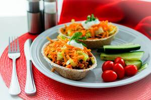 Tacos Bowl mit Gemüse