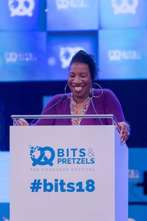 Tarana Burke at a speech