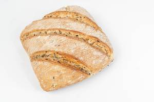 Tasty rustic bread isolated above white background (Flip 2019)