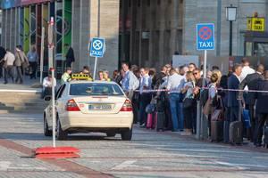 Taxi am Messegelände in Berlin