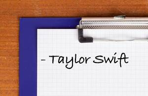 Taylor Swift text on clipboard