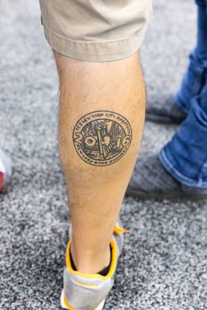TCS New York City Marathon 2016 tattoo