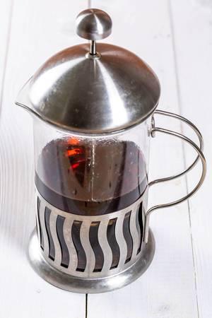 Teapot with fresh tea