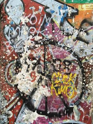 Teil der Berliner Mauer am Potsdamer Platz in Berlin
