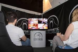 Teilnehmer am Spielstand von Cybernetic Walrus