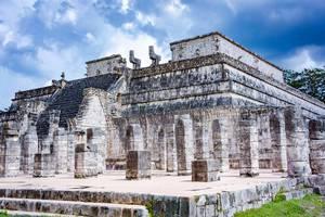 Temple in the Ruins of Chichen Itza in (Yucatan, Mexico)