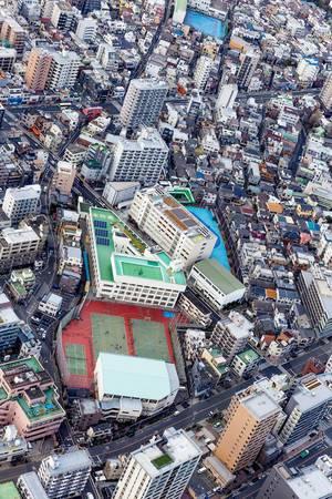 Tennis Aerial View
