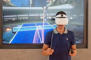 Tennis in der virtuellen Realität mit Huawei VR2