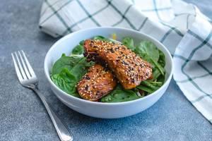 Teriyaki Fish with Spinach  (Flip 2019) (Flip 2019)
