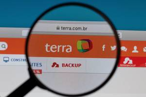 Terra logo under magnifying glass