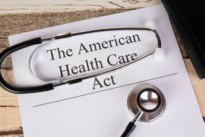 The American Health Care Act with stethoscope