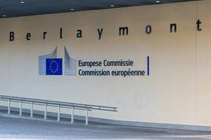 The Berlaymont Building of the European Committee in Brussels, Belgium