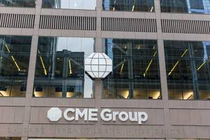 The corporate world headquarters of the CME Group in The Loop, central business district of Chicago