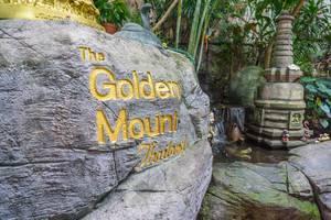The Golden Mount Thailand - Gravur in einem Stein