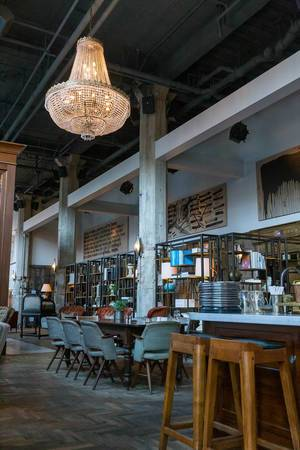 The interior of the historic Allis restaurant in the West Loop, Chicago, Illinois