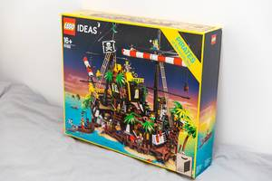 The LEGO Ideas 21322 Pirates of Barracuda Bay shipwreck island model launched in April 2020