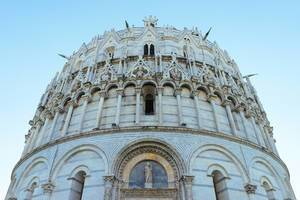 The Pisa Baptistery up close / Die Pisa Baptistery aus der Nähe