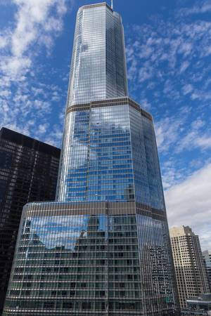 The Trump International Hotel and Tower in Downtown Chicago: second-tallest building in the city